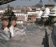 katmandu city stairs