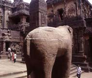 ellora carved elephant
